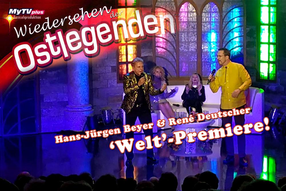 Wiedersehen der Ostlegenden Hansi Beyer & René Deutscher