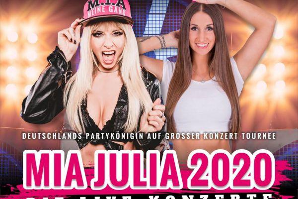 Konzertplakat Mia Julia 2020 Neu
