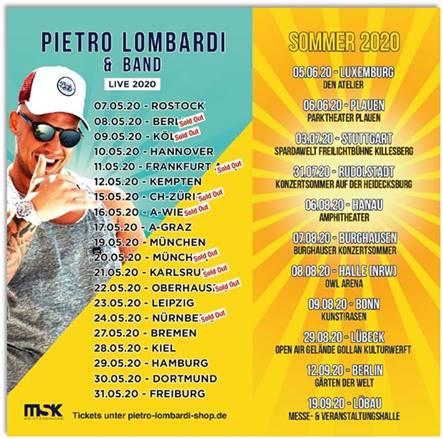 Pietro Lombardi 2020 Tourtermine